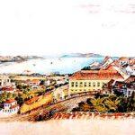 Porto Alegre vista das janelas da Santa Casa pelo pintor Herrmann Rudolf Wendroth, em 1852.