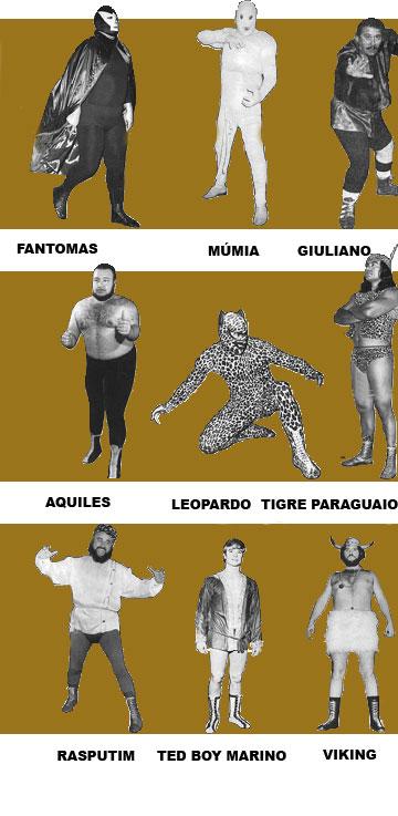 Programa de luta livre na TV da década de sessenta do século passado